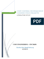 Cost Control Techniques in Construction Projects