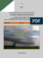 Prakiraan Hujan November 2018 - Januari 2019 Prov. Jatim