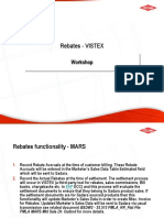 Rebates Vistex Analysis