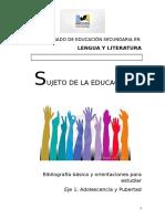 Orientaciones Para Estudiar Sujeto de La Educación Del Profesorado de Lengua y Literatura (2)