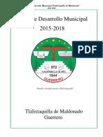 PLANMUNICIPALDEDESARROLLO2015-2018