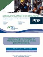 08. Gestión Integral de Riesgos en Mantenimiento_ppt_46 Congreso CCS_2013