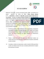 Acta de Acuerdo de Grupo