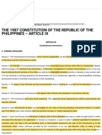 THE 1987 CONSTITUTION OF THE REPUBLIC OF THE PHILIPPINES – ARTICLE IX | Official Gazette of the Repu