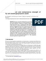 MATEC-Characterization and Compressive Strength of Fly Ash Based-geopolymer Paste