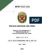 Manual Ceremonial y Protocolo Policía Nacional Del Perú