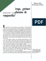 Horacio Quiroga Primer Escritor Rioplatense de Vanguardia 782093