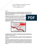 Estudio definitivo para la rehabilitación y mejoramiento de la carretera  Chongoyape – Cochabamba – Cajamarca Tramo Cochabamba – Chota