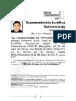 Percy Luis Ramos Tapia - Argumentación Jurídica Universitaria