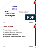 3)Donor Information and Education Strategies..MMV