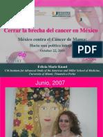 Cerrar La Brecha Del Cancer en Mexico