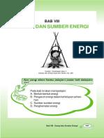 Bab 8 Energi Dan Sumber Energi