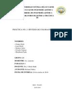 [QO3] Práctica 2 - Síntesis de Colorantes Azoicos (18-19)(1) (Autoguardado)
