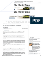 DENR Bans Lead Use in Consumer Products - The Manila Times Online
