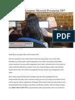 Modul Kursus Komputer Microsoft Powerpoint 2007