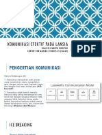Komunikasi Efektif Pada Lansia - Presentation Kemensos,Dian