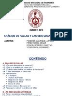 GRUPO N°06 - ANÁLISIS DE FALLAS Y SEIS GRANDES PÉRDIDAS