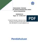 Pemahaman Ttg Perawatan Jangka Panjang Untuk Care Giver, Kemensos 8 - 11 Mei 2017, Tri Budi