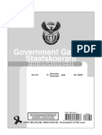 Government Gazette for The Presidency