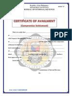 Annex A - COMPROMISE CERT OF AVAILMENT (1).docx