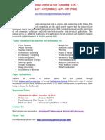 International Journal on Soft Computing( IJSC )
