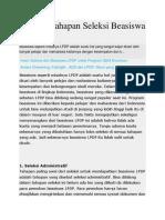 Rahasia Tahapan Seleksi Beasiswa LPDP