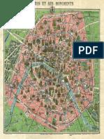 1920s LMap of Paris W-Monuments and Map of Versailles - Geographicus - ParisVersailles-leconte-1920s - 1