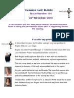 Bulletin 174 26th November 2018