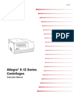 Beckman Coulter Allegra X-12 Centrifuge - User Manual