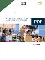Social Enterprise in Vietnam - Concept, Context and Policies