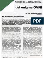 ENFOQUE DEL ENIGMA OVNI (José Mª Casas-Huguet, Mundo Desconocido Nº 63, Sep. 1981)