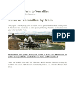 Paris to Versailles by Train