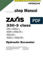Hitachi Zaxis 330-3-350-3 Class Hydraulic Excavator Service Repair Workshop Manual Download-001-040