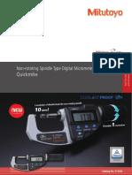 Mitutoyo - Mikrometry elektrocznie Quickmike - E12042 - 2018 EN