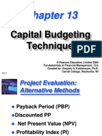 3 Capital Budgeting Techniques