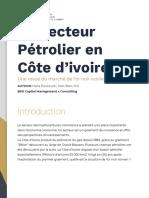 Le Secteur Petrolier en Côte D'Ivoire - Blitt Capital
