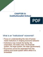 09 Institutionalist School