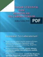 Dasar-dasar Statistik Dan Keandalan Tes Kendali Mutu