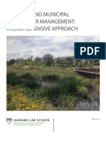 Regional Municipal Stormwater Management Comprehensive Approach