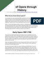 Styles of Opera Through History