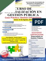 curso de especialización en gestión publica