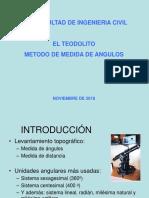 Teodolito Metodo de Medida de Angulos y Areas Qe