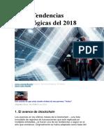 Las 7 Tendencias Tecnológicas Del 2018