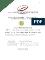 Analisis Etica Del Abogado Completo Morales Aracayo Antonio Ok