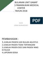 Laporan Bulanan Ugd Agustus 2018