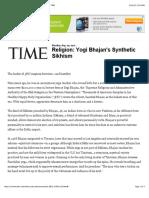 Time YogiBhajan'SSyntheticSikhism