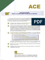 Cuestionario Ace - Alteración de Comportamiento en la Escuela