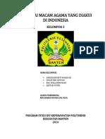 Berbagai Macam Agama Yang Diakui Di Indonesia