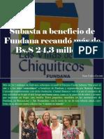 Juan Carlos Escotet - Subasta a Beneficio de Fundana Recaudó Más de Bs.S 24,3 Millones