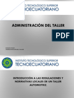 Administración Del Taller